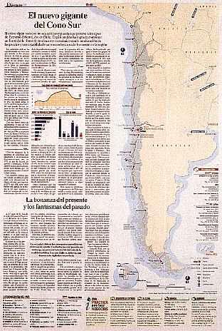 チリに関する新聞紙面