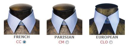 www.listerouge-paris.comでシャツをデザインするときに使うアプリケーションのカスタマイズ画面の一部