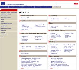 GSA.gov'のメイン'About Us'ページのスクリーンショット