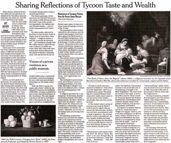 紙の新聞として発行されたニューヨークタイムズ紙の芸術記事をスキャンした画像
