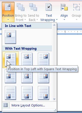 Microsoft Office 2007のリボンのスクリーンショット