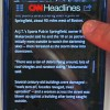 CNN News app, as shown on a study participant's phone.