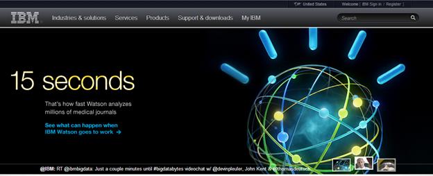 IBMのホームページ