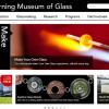 "Corning Museum of Glassのホームページ。""Make""の枠が開いた状態。"