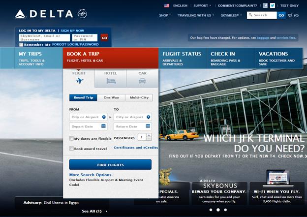 Deltaのホームページ