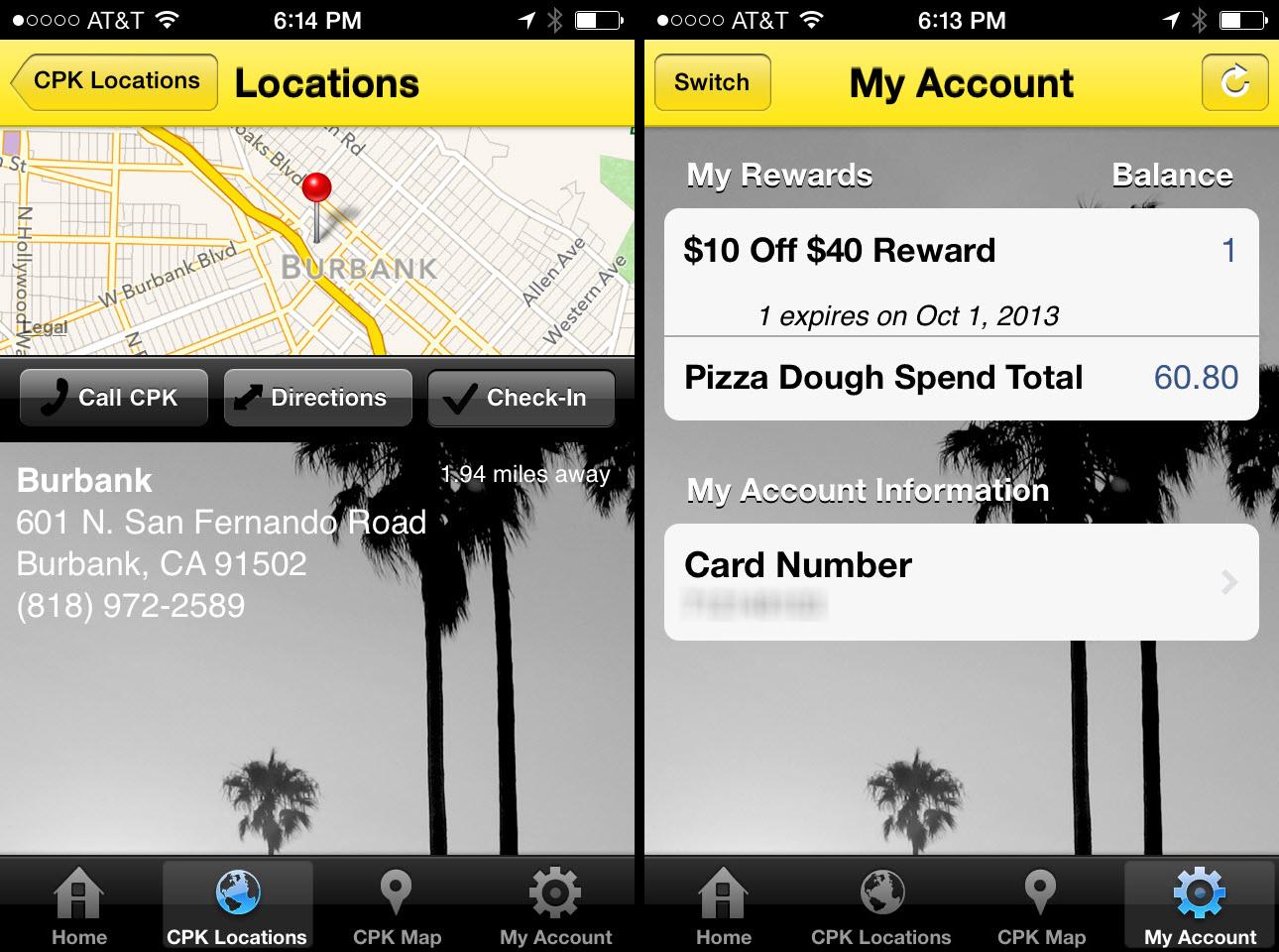California Pizza Kitchenのモバイルアプリはクーポンと特典の管理をするものである。しかし、その体験のシームレスさには改善の余地がある。