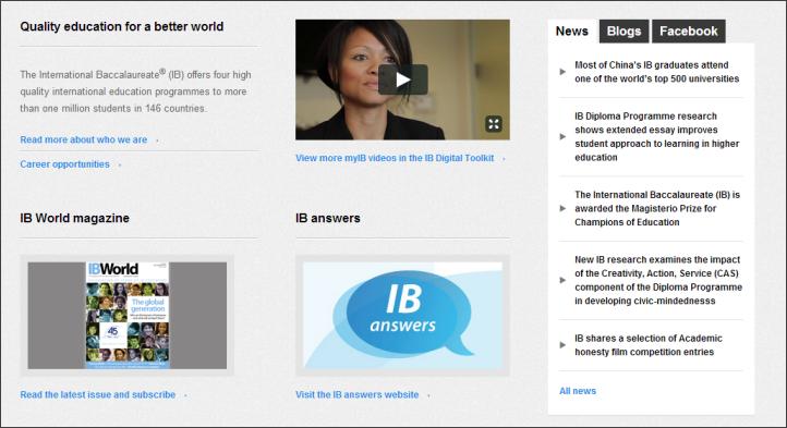 IBO.orgのホームページのリンクは一意的かつ具体的である。Read(:読む)で始まるリンクも多いが、リンクテキストにはそのリンクの参照先のコンテンツの具体的な情報も含まれている(例、Read more about who we are(:組織概要についてさらに読む)あるいはRead the latest issue(:最新号を読む))。このサイトはReadという語を外して、リンクの説明を先に持ってくることで、さらに流し読みしやすくなるだろう。