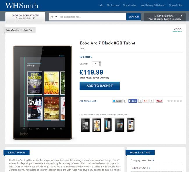 WHSmith.co.ukのこの商品ページには、ここが本屋だという記述すらない。このサイトが提供しているものについての見てわかる唯一の手がかりは、コンテンツがどれもたまたまページ上での紹介になっていることだけである。