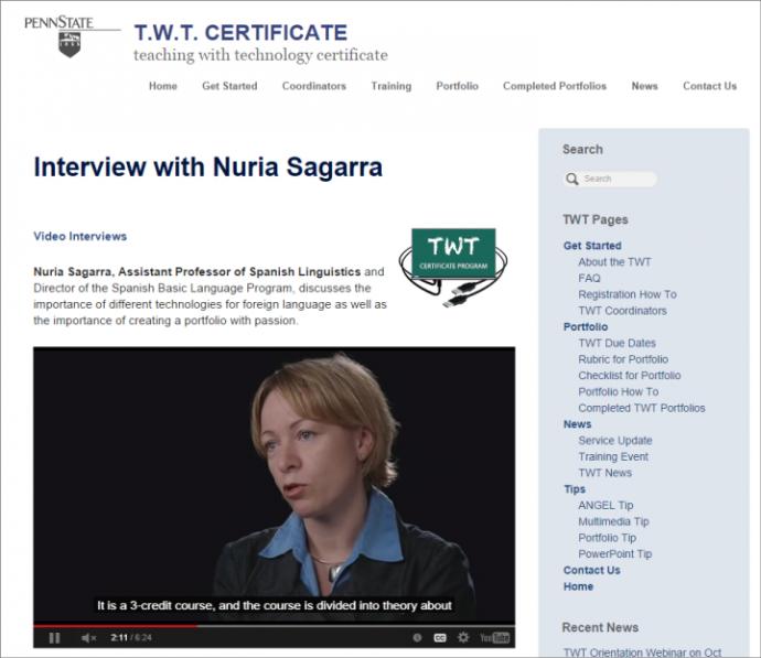 ペンシルバニア州立大学のサイトにあるこの動画にはキャプションが付いていて、動画のコンテンツがわかりやすい。