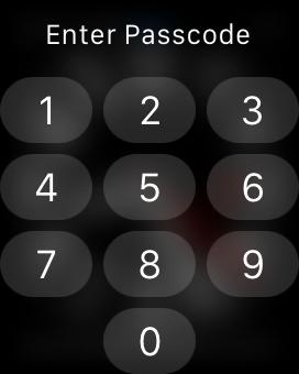 Apple Watchのロック解除には非常に小さなテンキーでの入力が必要である。テンキーの大きさは約6mm×4mmで、推奨されている10 mm×10 mmという大きさの約4分の1(24%)しかない。