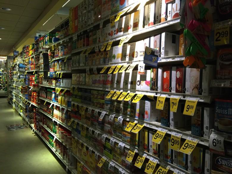 アメリカのスーパーマーケット・Vonsのお茶売り場