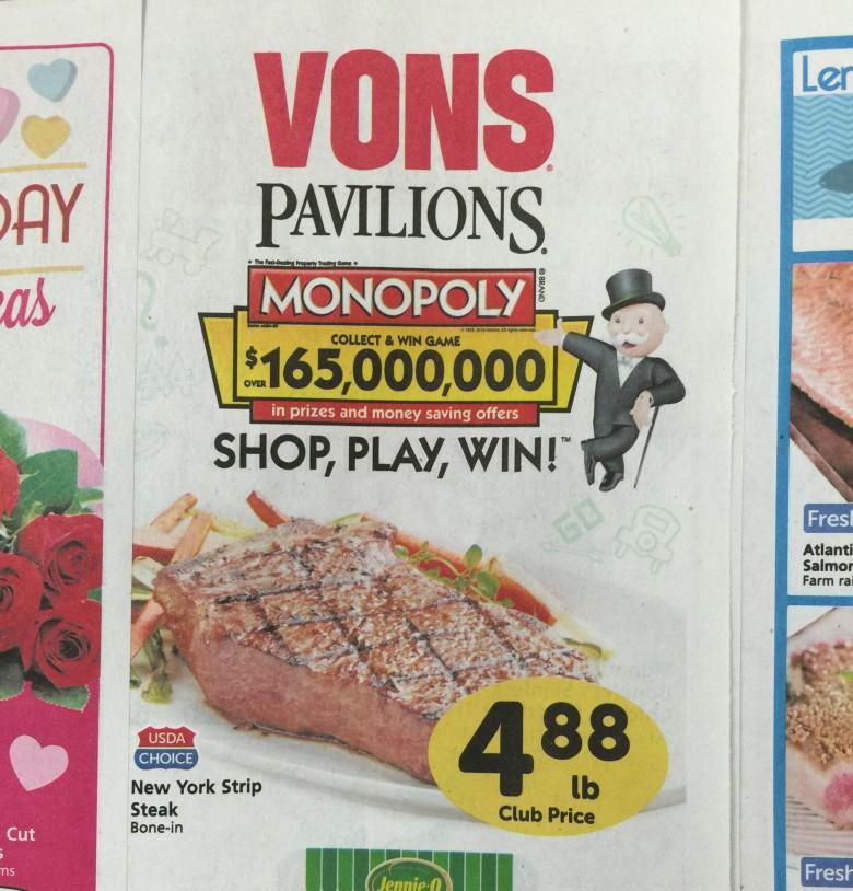 広告の例:VONS and Pavillions