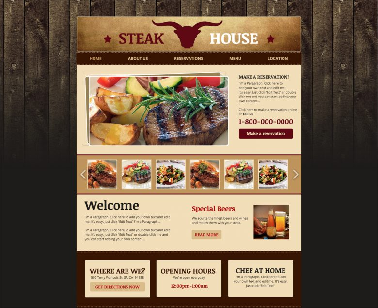 「Steak House」は従来的なデザインとして、この調査に入れられ、対照群としての役割を果たした。つまり、若年層ユーザーと中高年ユーザーで同じように評価された。