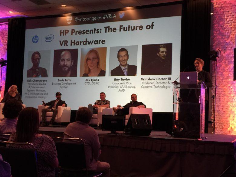 """パネルディスカッションパネルディスカッションは、""""HP Presents: The Future of VR Hardware""""の様子"""
