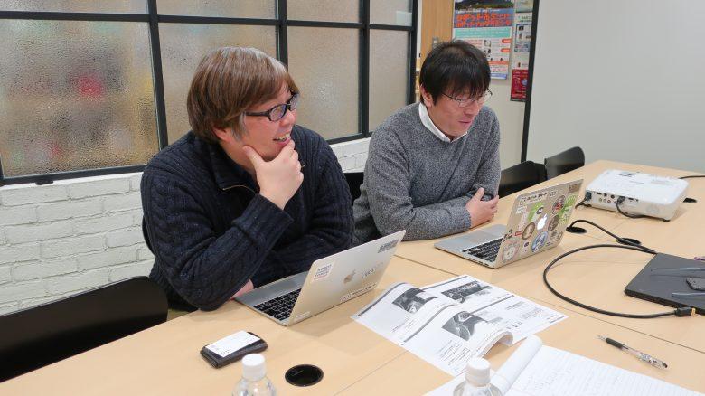 ロボットスタートの中橋さんと旭さん