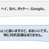 「ヘイ、Siri。オッケー、Google」「ちょっと違いますけど、まあいいです。 特に対抗意識はありません」